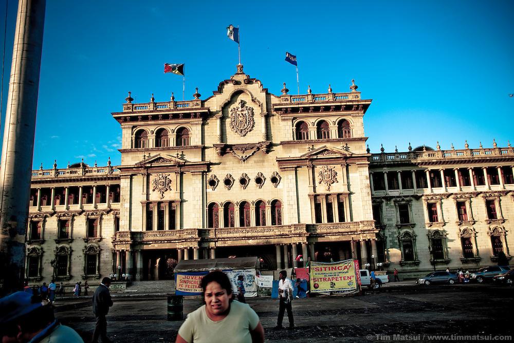 Palacio Nacional, or National Palace, in Guatemala City, Guatemala.