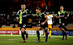 James Vaughan of Bury celebrates with teammates after scoring a goal to make it 1-1 - Mandatory by-line: Robbie Stephenson/JMP - 20/01/2017 - FOOTBALL - Vale Park - Stoke-on-Trent, England - Port Vale v Bury - Sky Bet League One
