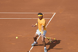 April 28, 2018 - Barcelona, Barcelona, Spain - RAFAEL NADAL during the semifinal against DAVID GOFFIN in the Barcelona Open Banc Sabadell 2018. RAFAEL NADAL won the match 6-4 6-0. (Credit Image: © Patricia Rodrigues/via ZUMA Wire via ZUMA Wire)