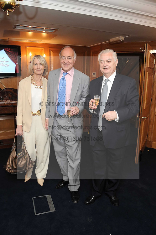 Left to right, MICHAEL & SANDRA HOWARD and LORD LAMONT at the Spectator Summer Party held at 22 Old Queen Street, London SW1 on 3rd July 2008.<br />