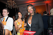 NOELLA COURSARIS; JENNIFER EWAH, The Veuve Clicquot Business Woman Of The Year Award, celebrating women's excellence in business and commitment to sustainability. Claridge's, Brook Street, London, 22 April 2013