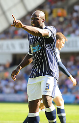 Millwall's Danny Shittu - Photo mandatory by-line: Seb Daly/JMP - Tel: Mobile: 07966 386802 03/08/2013 - SPORT - FOOTBALL - The Den - Millwall -  Millwall V Yeovil Town - Sky Bet Championship