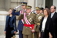 010614 Spanish Royals Celebrate New Year's Military Parade 2013