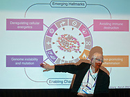 Washington, DC - The AACR Annual Meeting 2013: Yves DeClerck speaks during the Special Interest Session: Tumor Microenvironment 205.534 at the the American Association for Cancer Research Annual Meeting here today, Sunday, April 7, 2013. More than 18,000 physicians, researchers, health care professionals, cancer survivors and patient advocates are expected to attend the meeting at the Walter Washington Convention Center. The Annual Meeting highlights the latest findings in all major areas of cancer research from basic through clinical and epidemiological studies. Date: Sunday, April 7, 2013 Photo by © AACR/Alan Lessig 2013 Technical Questions: todd@medmeetingimages.com; Phone: 612-226-5154.