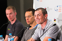Media Conference with (R-L) Simon Gerrans (ORICA-SCOTT), Richie Porte (BMC Racing Team), Tom-Jelte Slagter (Cannondale - Drapac Pro Cycling Team), Tour Down Under, Australia on the 14 of January 2017 ( Credit Image: © Gary Francis / ZUMA WIRE SERVICE )
