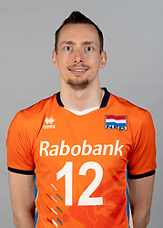 14-05-2018 NED: Team shoot Dutch volleyball team men, Arnhem<br /> Wouter ter Maat #16 of Netherlands