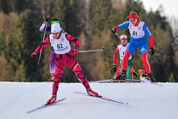 KONONOVA Oleksandra, UKR, KAUFMAN Alena, RUS at the 2014 IPC Nordic Skiing World Cup Finals - Sprint