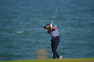 Clement Sordet (FRA) on the 18th during Round 4 of the Oman Open 2020 at the Al Mouj Golf Club, Muscat, Oman . 01/03/2020<br /> Picture: Golffile | Thos Caffrey<br /> <br /> <br /> All photo usage must carry mandatory copyright credit (© Golffile | Thos Caffrey)