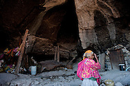 Traditional Tarahumara cave dwelling, Copper Canyon, Mexico