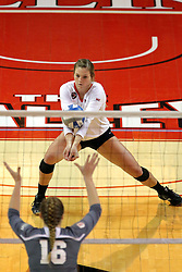 06 November 2015:  Ashley Rosch(15) during an NCAA women's volleyball match between the Bradley Braves and the Illinois State Redbirds at Redbird Arena in Normal IL (Photo by Alan Look)