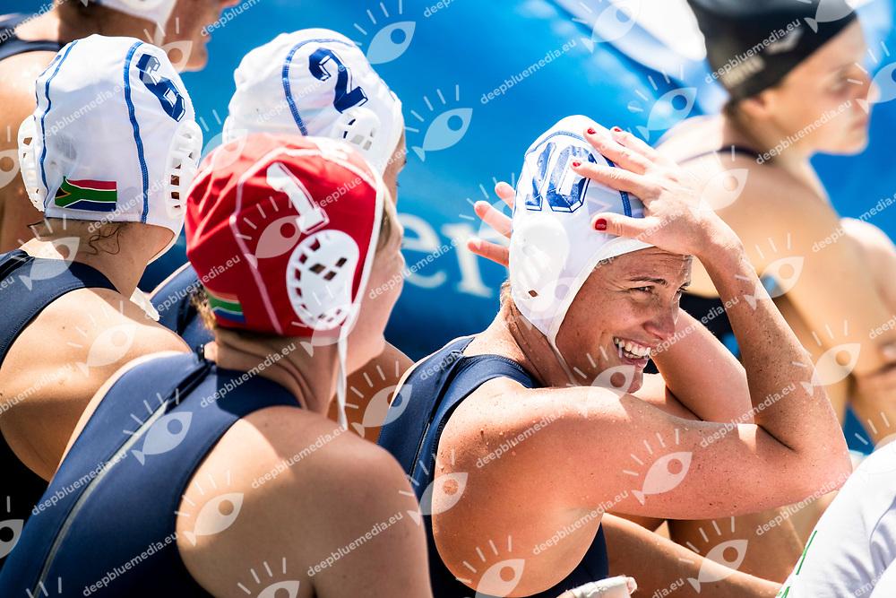MANSON Marcelle RSA  <br /> RSA (white cap) -  USA (blue cap)<br /> Preliminary Round Water Polo<br /> Day03  16/07/2017 <br /> XVII FINA World Championships Aquatics<br /> Alfred Hajos Complex Margaret Island  <br /> Budapest Hungary <br /> Photo @ Deepbluemedia/Insidefoto