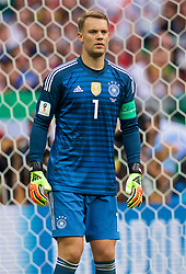 MOSCOW, RUSSIA - Sunday, June 17, 2018: Germany's goalkeeper Manuel Neuer during the FIFA World Cup Russia 2018 Group F match between Germany and Mexico at the Luzhniki Stadium. (Pic by David Rawcliffe/Propaganda)