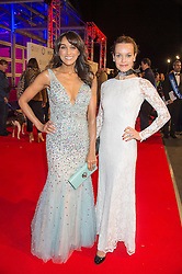 Left to right, JACKIE ST.CLAIR and KIM FRICKLETON at the Battersea Dogs & Cats Home's Collars & Coats Gala Ball held at Battersea Evolution, Battersea Park, London on 12th November 2015.
