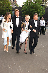 Left to right, MISS MARINA HANBURY, MR ROBIN HURLSTONE former partner of Joan Collins, DAPHNE GUINNESS and HUGO DE FERRANTI  at the NSPCC's Dream Auction held at The Royal Albert Hall, London on 9th May 2006.<br /><br />NON EXCLUSIVE - WORLD RIGHTS