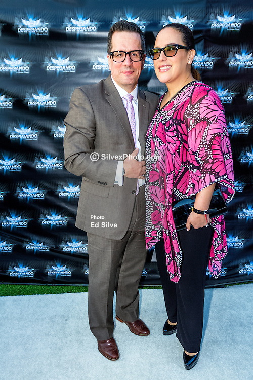 LOS ANGELES, CA - JUN 3: Mexican Actress Angelica Vale and Otto Padron (husband) attend Despegando Show VIP Launch party at Don Chente's Restaurant in downtown Los Angeles. The reality show is presented by Adriana Gallardo, founder and CEO of Adriana's Insurance. The show will coach chosen participants how to be successful entrepreneurs. 2015, June 3. Byline, credit, TV usage, web usage or linkback must read SILVEXPHOTO.COM. Failure to byline correctly will incur double the agreed fee. Tel: +1 714 504 6870.