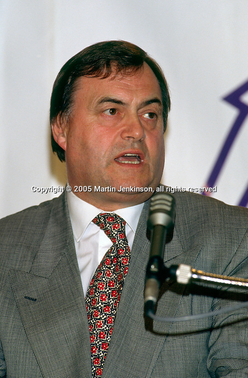 John Prescott MP, Labour Member of Parliament for Kingston upon Hull East ...© Martin Jenkinson, tel 0114 258 6808 mobile 07831 189363 email martin@pressphotos.co.uk. Copyright Designs & Patents Act 1988, moral rights asserted credit required. No part of this photo to be stored, reproduced, manipulated or transmitted to third parties by any means without prior written permission
