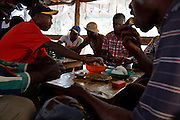 January 2008, Kolwezi, DRC. This restaurant is located next to the informal diggers' site. Women and children are not allowed on the site.
