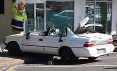 Auckland-Woman trapped after crashing into office, Torbay