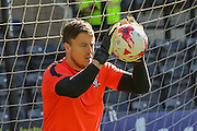 York City goalkeeper Michael Ingham during the Sky Bet League 2 match between Notts County and York City at Meadow Lane, Nottingham, England on 26 September 2015. Photo by Simon Davies.