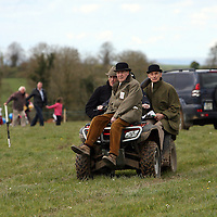 The judges being transported at the first County Clare Hunt point to point in Cahergal, Newmarket-on-Fergus on Easter Sunday.<br /> Photograph by Yvonne Vaughan