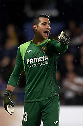 December 13, 2018 - Villarreal, Castellon, Spain - Andres Fernandez of Villarreal gives instructions during the Group G match of the UEFA Europa League between Villarreal CF and Spartak Moskva at La Ceramica Stadium Villarreal, Spain on December 13, 2018. (Credit Image: © Jose Breton/NurPhoto via ZUMA Press)