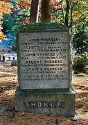 Grave site of Henry David Thoreau, Sleepy Hollow Cemetery, Concord, Massachusetts, USA