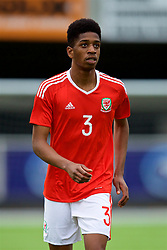 MERTHYR TYDFIL, WALES - Thursday, November 2, 2017: Wales' Liam Ihekwoaba during an Under-18 Academy Representative Friendly match between Wales and Newport County at Penydarren Park. (Pic by David Rawcliffe/Propaganda)