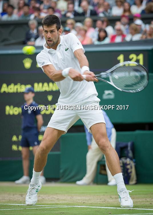 NOVAK DJOKOVIC (SRB), Bewegungsunschaerfe,<br /> <br /> Tennis - Wimbledon 2017 - Grand Slam ITF / ATP / WTA -  AELTC - London -  - Great Britain  - 11 July 2017.