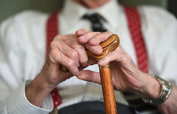 File photo dated 18/05/17 of an elderly man. A research from the Rush University Medical Centre in Chicago, has shown older people who move around more - even if they are just doing housework - may protect themselves against the effects of dementia.