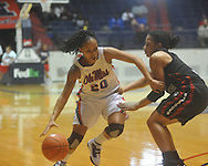 Ole Miss' Kayla Melson (20) vs. South Carolina in women's college basketball action in Oxford, Miss., on Sunday, January 16, 2011. South Carolina won 63-58 in overtime.
