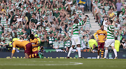 Celtic's Callum McGregor (right) celebrates victory with Olivier Ntcham after beating Motherwell during the William Hill Scottish Cup Final at Hampden Park, Glasgow.