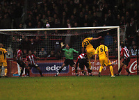 Photo: Tony Oudot/Richard Lane Photography. Brentford v Rochdale. Coca-Cola Football League Two. 01/11/2008. <br /> Rory McArdle  scoring Rochdales first goal