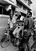 Peter Tosh on Monocycle downtown Kingston jamaica 1978