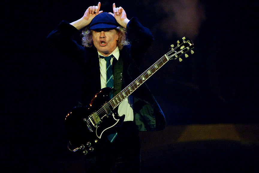 Montreal August 8, 2009 - Angus Young and AC/DC perform at Montreal's Olympic Stadium. (THE GAZETTE/Tim Snow)