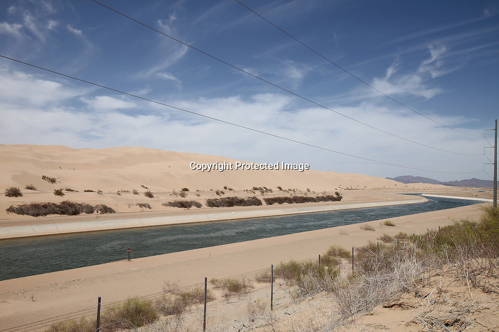 The All-American canal - an aquaduct that conveys water from the Colorado River into Imperial Valey, California