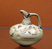 Small pottery jug with floral motifs Minoan, 1400-1300 BC () Found at Knossos