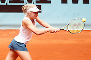Daria Gavrilova during the Madrid Open at Manzanares Park Tennis Centre, Madrid<br /> Picture by EXPA Pictures/Focus Images Ltd 07814482222<br /> 05/05/2016<br /> ***UK & IRELAND ONLY***<br /> EXPA-ESP-160505-0073.jpg
