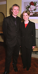 MR & MRS ANDREW COLLINGE he is the leading stylist, at a reception in London on 10th February 1999.MOH 48