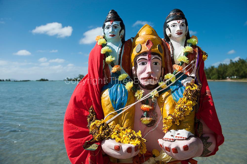 Shrine to the Hindu God Hanuman. North coast of the island. at Anse La Raie.