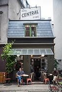 The world's smallest Hotel and Coffee Shop, in Copenhagen, Denmark.