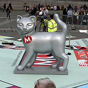 London,England,UK : 1st April 2016 : Trafalgar square preparing a monopoly for the First  10 days London Games Festival all over London, UK. Photo by See Li