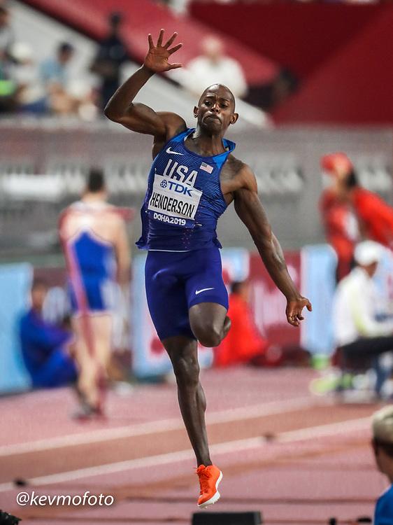 2019 IAAF World Athletics Championships held in Doha, Qatar from September 27- October 6<br /> Day 2<br /> USA mens long jump