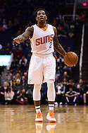 Jan 3, 2017; Phoenix, AZ, USA;  Phoenix Suns guard Eric Bledsoe (2) dribbles the ball up the court in the first half of the NBA game against the Miami Heat at Talking Stick Resort Arena. The Suns won 99-90. Mandatory Credit: Jennifer Stewart-USA TODAY Sports