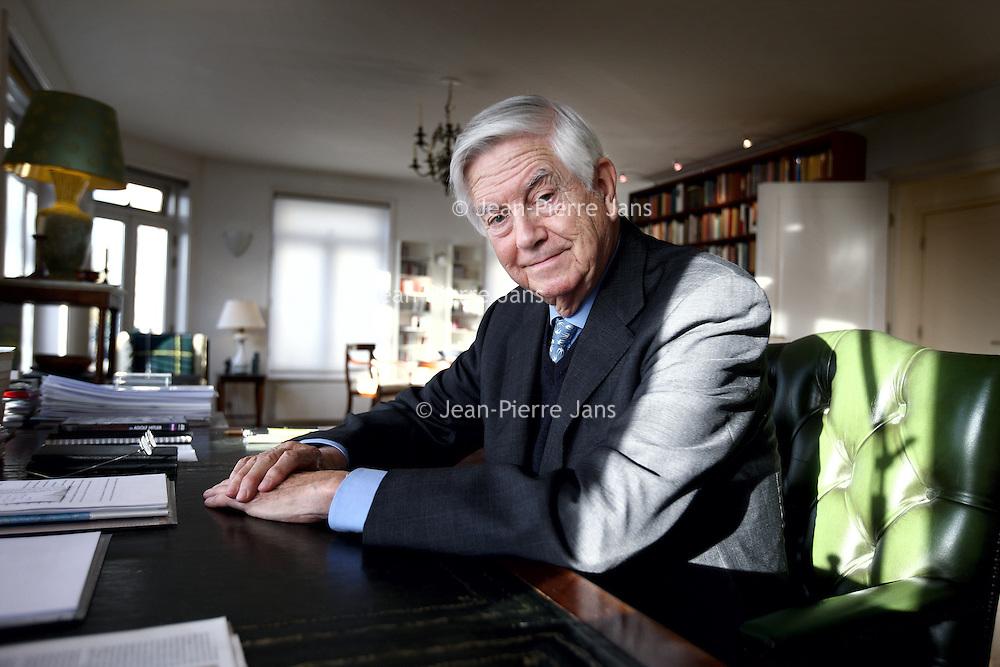 Nederland, Amsterdam , 13 november 2013.<br /> Frits Bolkestein (Amsterdam, 4 april 1933) is een Nederlands politicus. Hij was staatssecretaris van Economische Zaken en korte tijd minister van Defensie. Het bekendst is hij geworden als fractievoorzitter van de VVD in de Tweede Kamer. Van 1999 tot 2004 was Bolkestein Europees Commissaris voor Interne markt, de Douane Unie en Belastingen.<br /> Foto:Jean-Pierre Jans