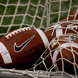 Sep 11, 2010; New Orleans, LA, USA; Nike footballs are seen on the Mississippi Rebels sideline during a game against the Tulane Green Wave at the Louisiana Superdome. The Mississippi Rebels defeated the Tulane Green Wave 27-13.  Mandatory Credit: Derick E. Hingle