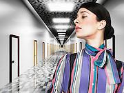 Businesswoman Deciding on Direction
