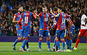 Palace celebrate Fraiser Campbell's goal during the Capital One Cup match between Crystal Palace and Charlton Athletic at Selhurst Park, London, England on 23 September 2015. Photo by Michael Hulf.