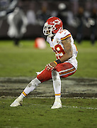 Kansas City Chiefs strong safety Eric Berry (29) chases the action during the NFL week 12 regular season football game against the Oakland Raiders on Thursday, Nov. 20, 2014 in Oakland, Calif. The Raiders won their first game of the season 24-20. ©Paul Anthony Spinelli