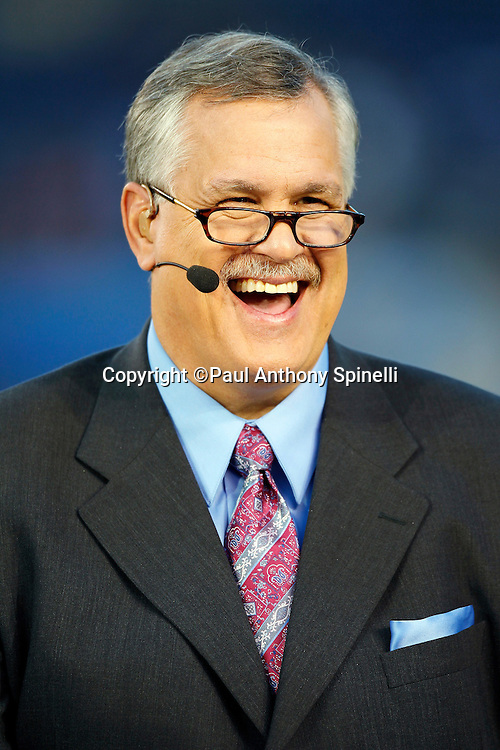 ESPN analyst Matt Millen has a laugh during the postgame show at the San Diego Chargers NFL week 11 football game against the Denver Broncos on Monday, November 22, 2010 in San Diego, California. The Chargers won the game 35-14. (©Paul Anthony Spinelli)