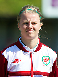 HAVERFORDWEST, WALES - Sunday, August 25, 2013: Wales' Hannah Keryakoplis before the Group A match of the UEFA Women's Under-19 Championship Wales 2013 tournament against France at the Bridge Meadow Stadium. (Pic by David Rawcliffe/Propaganda)